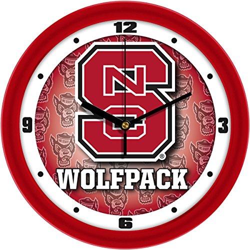 (SunTime NCAA North Carolina State Wolfpack Wall Clock)