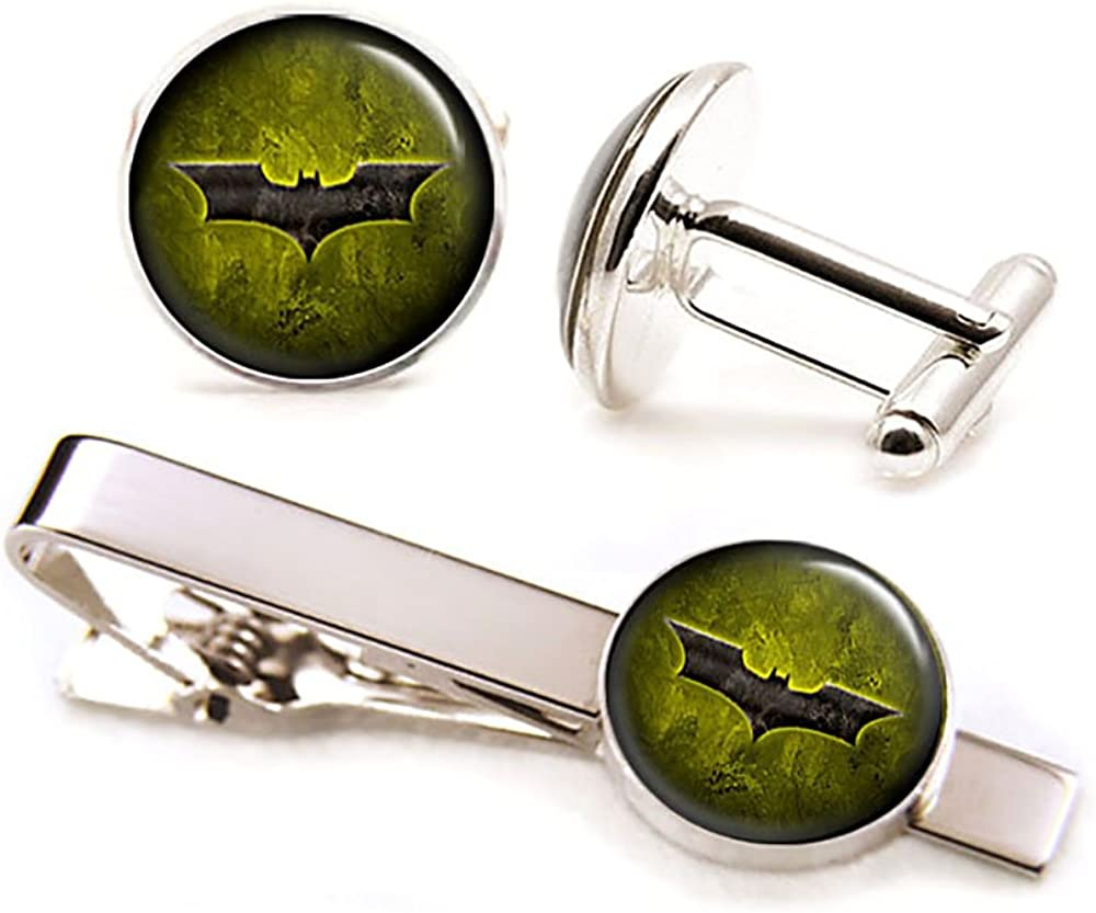 SharedImagination Batman Cufflinks, Batman Jewelry, Batman Cuff Links Link, Justice League Wedding Party Gift, Avengers Groomsmen Gifts