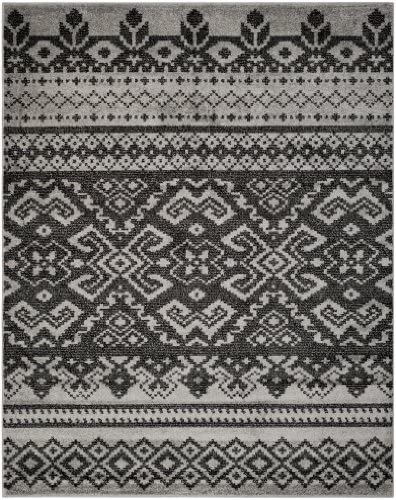 Safavieh Adirondack Collection ADR107A Silver and Black Rustic Bohemian Area Rug 10 x 14
