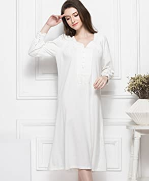22d470e01d Ladies Nightdress Pajamas 2018 Autumn and Winter New Cotton Retro Lace Long  Sleeve Gown Women s Bathrobe