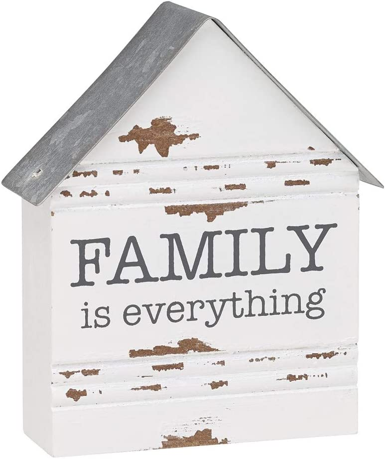 Collins Painting 'Family is Everything' Wood Block Sign