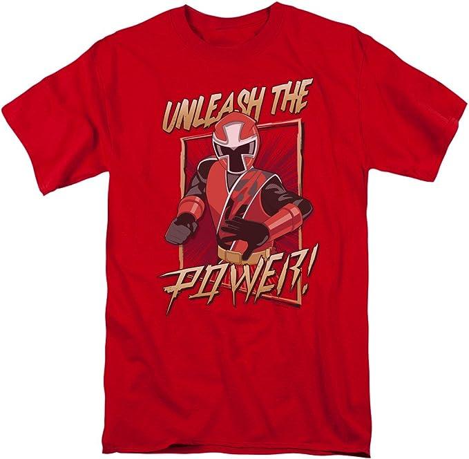 Trevco Power Rangers Helmet Collection Ringer T-Shirt Size M