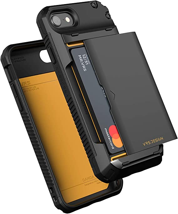 VRS DESIGN Damda Glide Pro for iPhone SE 2020/8 / 7, with [4 Cards] [Semi Auto] Premium Sturdy Credit Card Slot Wallet for iPhone SE 2020/8 / 7 Case 4.7 inch (2020)