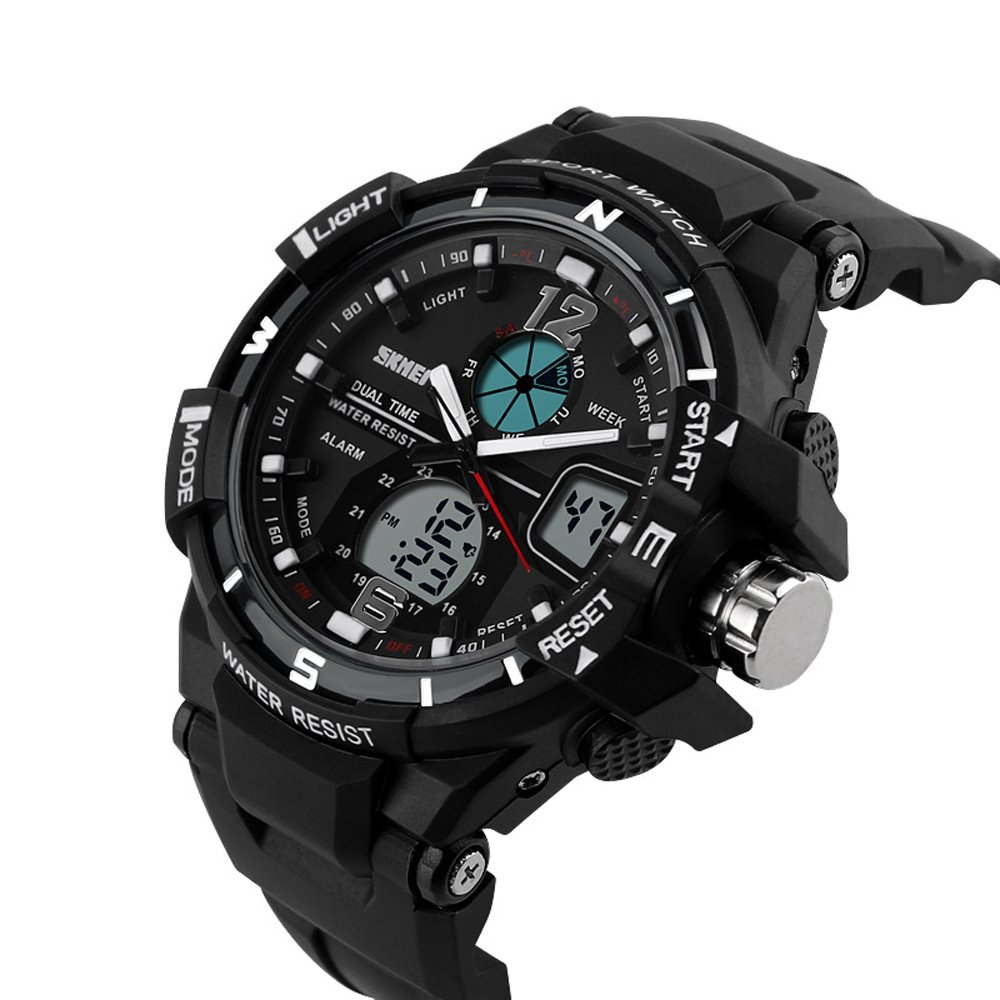 Amazon.com: Mens Digital Watch Men Sports Watches Reloj Fashion Casual Relogio Masculino Clock Outdoor Military Wristwatches (Black): Cell Phones & ...