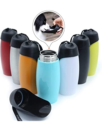 f5fd05063fc Vivaglory Stainless Steel Dog Drinking Bottle, 750 ml Portable Dog Travel Water  Bottle with Big