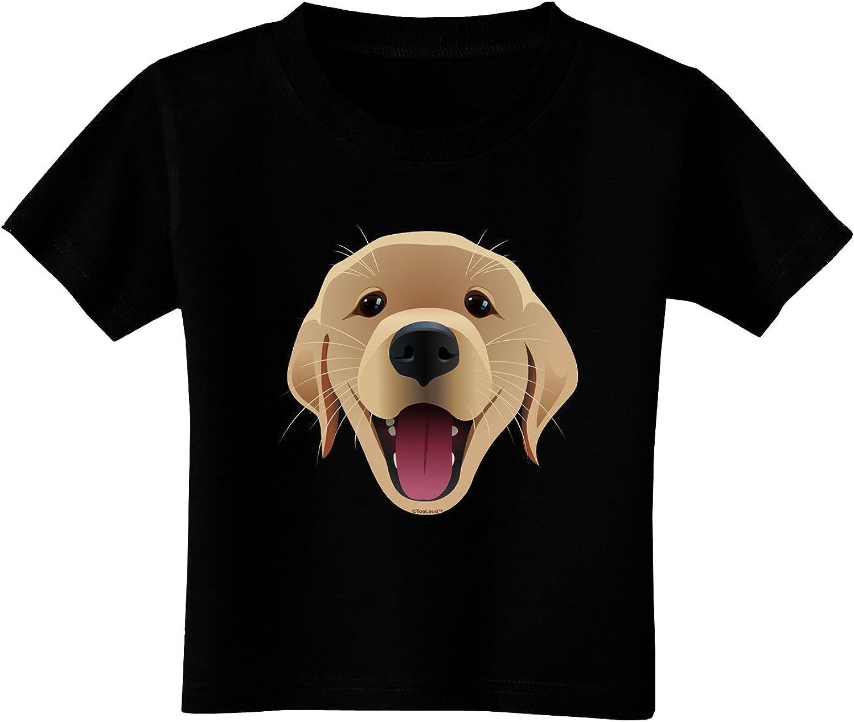 TooLoud Golden Retriever Watercolor Toddler T-Shirt