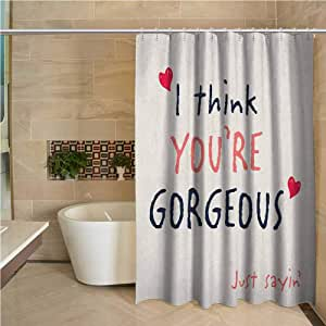 Quote Shower Curtain Bathroom Curtain Liners 66x72 inch ...