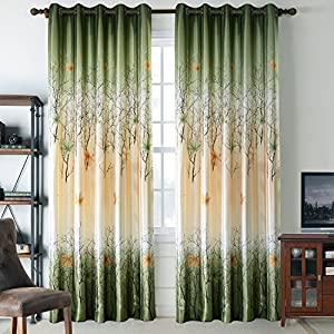 Amazon Giveaway Green Leaf Tree Curtains Living Room Anady Top 2