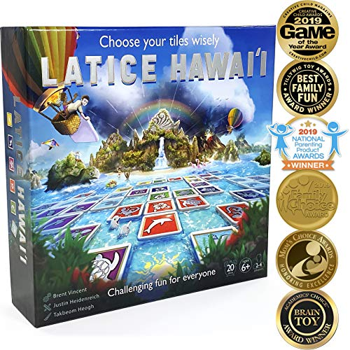 Latice Hawaii Strategy Board Game - The Ultimate Multi-Award-Winning Smart New Kickstarter Game for Adults and Kids. Intelligent Fun for Friends and The Whole Family. (Christmas Popular 2019 Gifts Most)