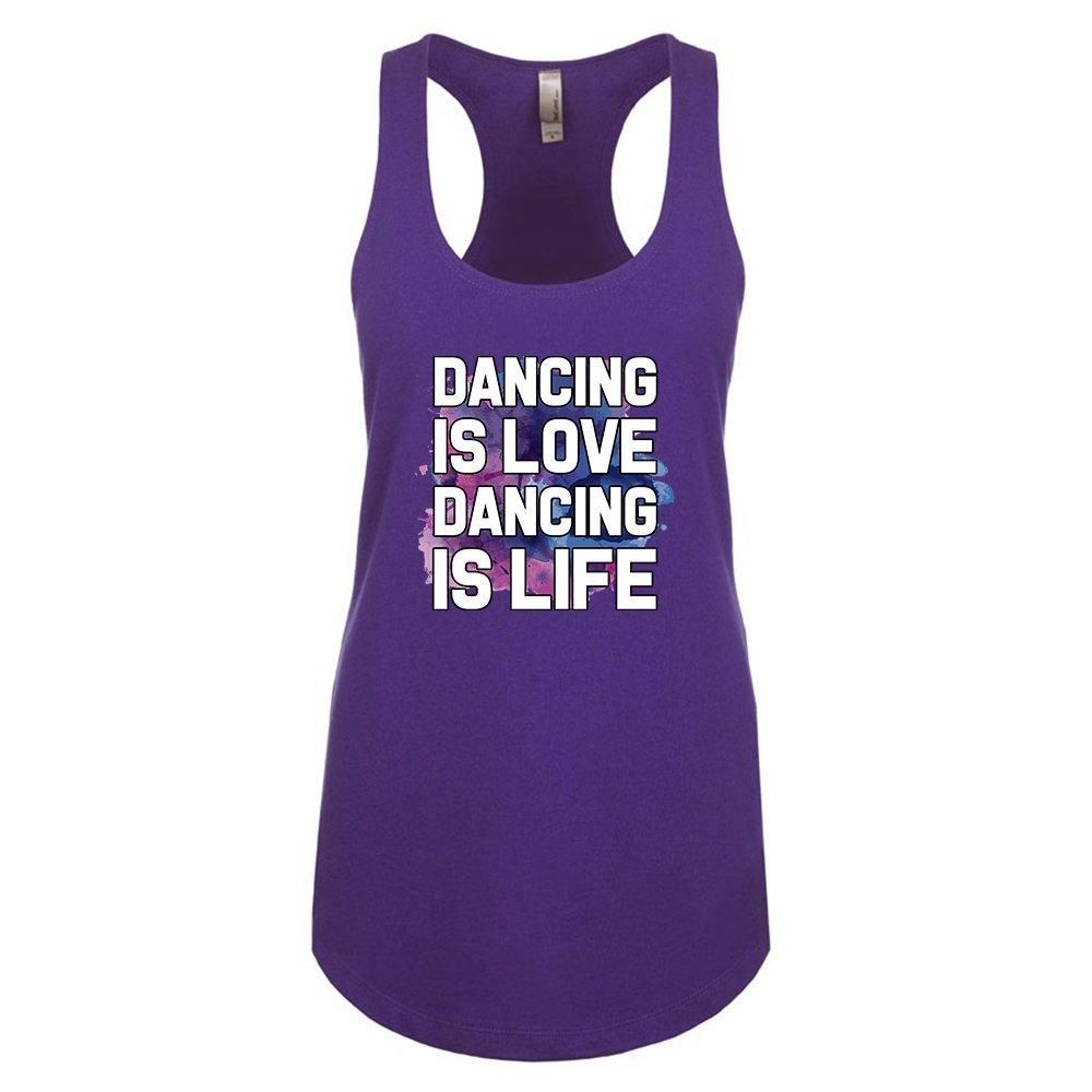 Mad Over Shirts Dancing is Love Dancing is Life Unisex Premium Racerback Tank top