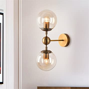 Moderne Applique Double Abcoll Murale Minimaliste Lampe Tête nP80Owk
