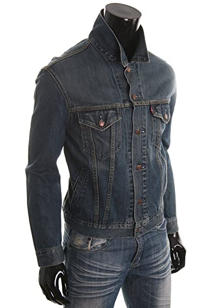 Levi S Chaqueta Hombre Jeans Red Tab Mod 70550 100% algodón Regular Slim Fit
