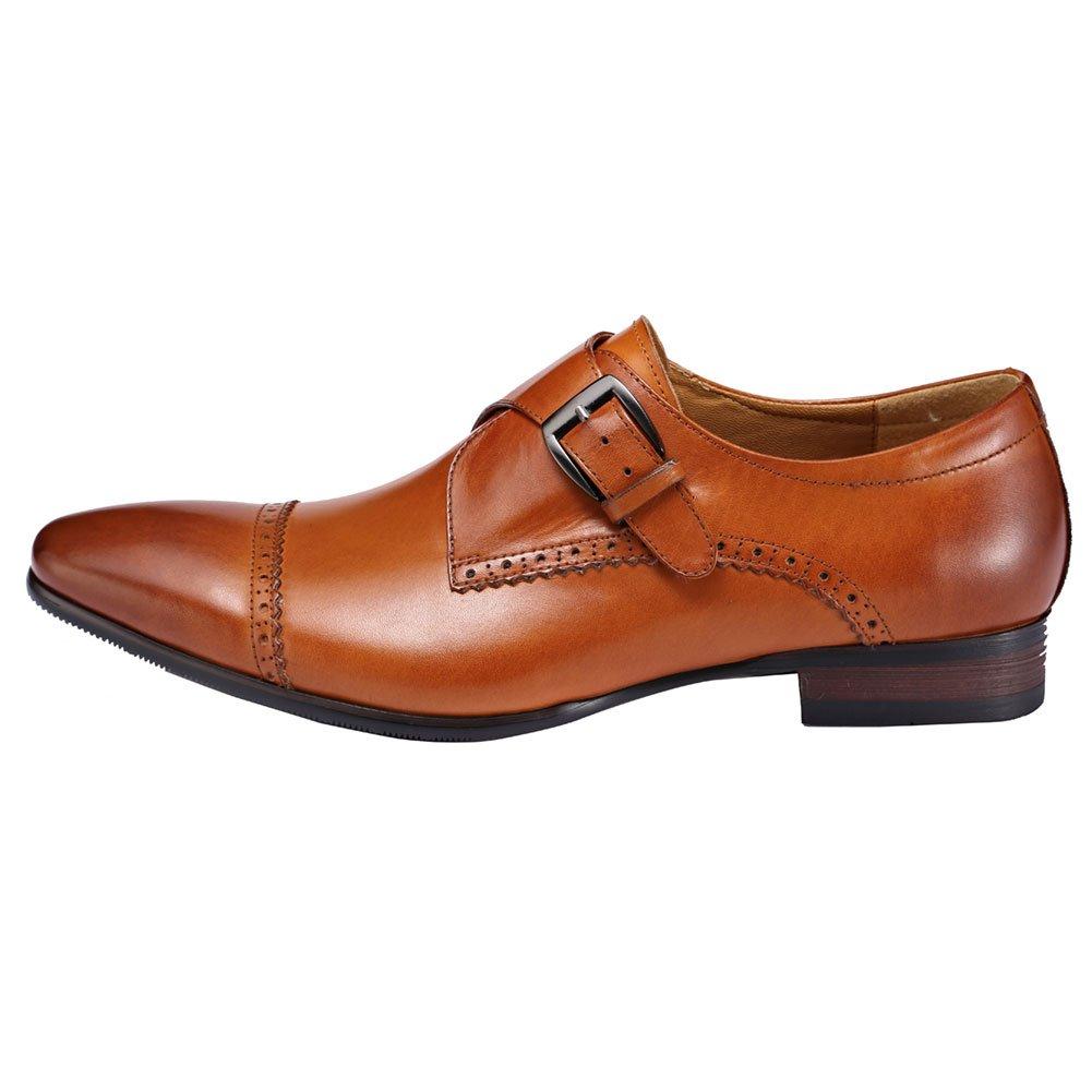 Amazon.com | ROYAL WIND Mens Kason Carrigan Leather Box Smooth Slip-On Loafer Black | Walking