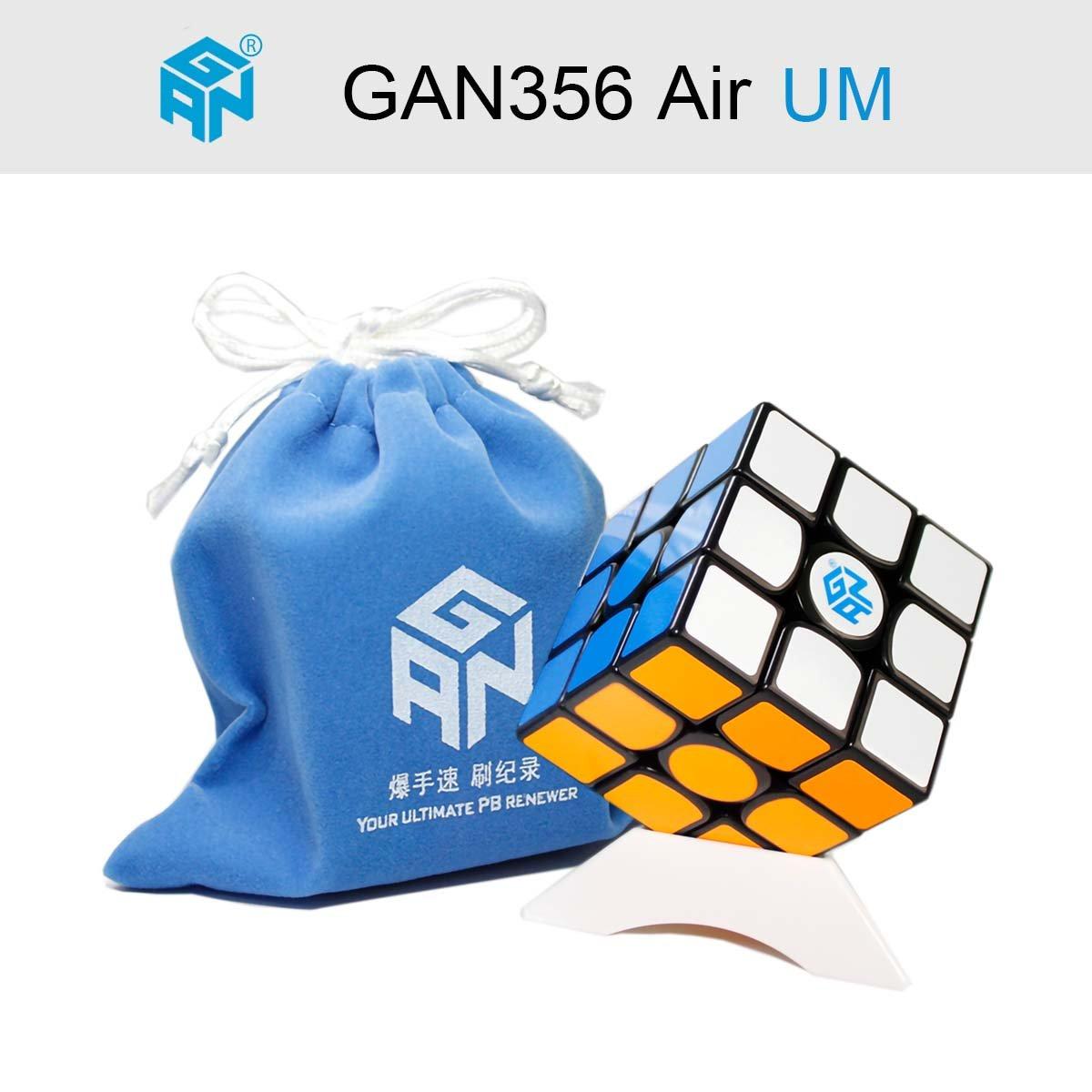 Gobus Ganspuzzle GAN356 Air UM Cubo mágico Cubo 3x3x3 de Velocidad Competencia Profesional Puzzle Cube con un Soporte de Cubo y una Bolsa de Cubo (GAN 356 Air UM)