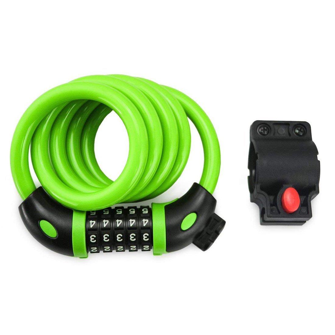 NDakter~ Purple Combination Cable Chain Bike Lock ~ 4 Feet x 1//2 Inch