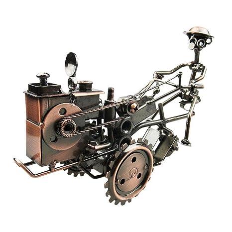 Hierro Tractor Modelo Antiguos De Metal Artesanales Adornos , Bronze