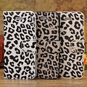Leopard Grain Flip Wallet Leather Stand Holder Case For iPhone 5C