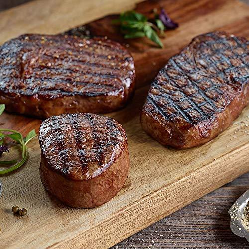 Kansas City Steaks The Grand Collection - 4 (16 oz) Kansas City Strip Steaks, 4 (16 oz) Boneless Ribeyes and 4 (12 oz) Super Trimmed Crown Filet Mignon