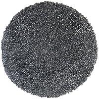 Grey Blue Shimmer Shag (3x3) Round Rug