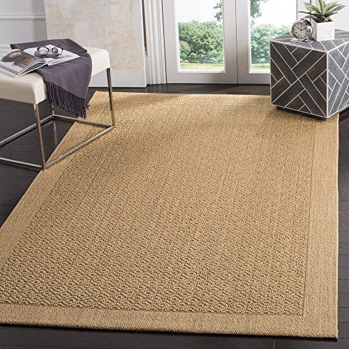Collection PAB355M Maize Sisal & Jute Area Rug (3' x 5') (Palm Sisal Rug)