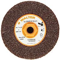 "Walter Blendex Linear Finishing Abrasive Drum, 3800 Maximum RPM, 4-1/2"" Diameter x 2"" Width, 5/8""-11 Arbor, Grit Coarse"