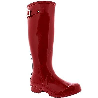 d51eac6251 Womens Original Tall Gloss Winter Waterproof Wellies Rain Wellington Boots  - 3 - DRE36 BL0039