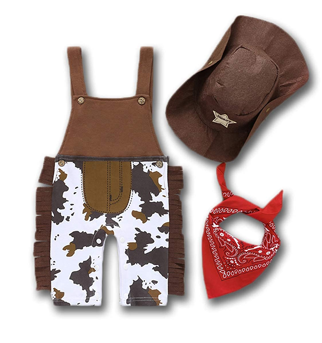 Infant Baby Boy Girls Jumpsuit Sleeveless Strappy Romper Camo Overalls Hat Mask Set