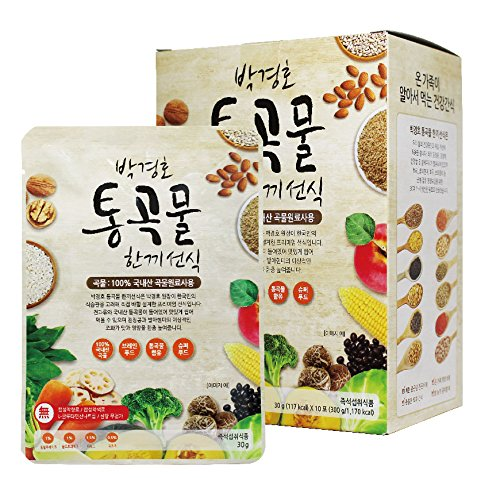 [Dr. MOON] Roasted Multigrain & Vegetables Powder Formulated by Dr. Park, Gyeong-Ho (30g x 10 packets) - 300g/0.66 fl. oz, Meal Replacement, A Good Source of Energy & Protein, Misoot-garoo