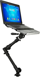 Mount-It! MI-7410 Car Laptop Mount Full Motion, Rotating, Adjustable Height, Under Car Seat Notebook Stand Fits 12 to 15.4 Inch Screen Sizes, 9 Lbs Capacity, Full Motion with Lockable Joints