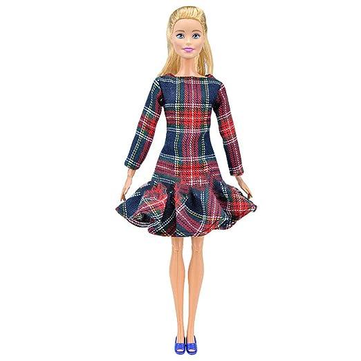 Amyove Navidad Ropa Disfraz para muñeca Premium Princess Fashion ...