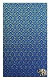 Blue Thai Silk Blend Waitstaff Organizer, Guest Checks Presenter, Check Book Holder for Restaurant, Waiters Server Book with Money Pocket / With Plastic Cover