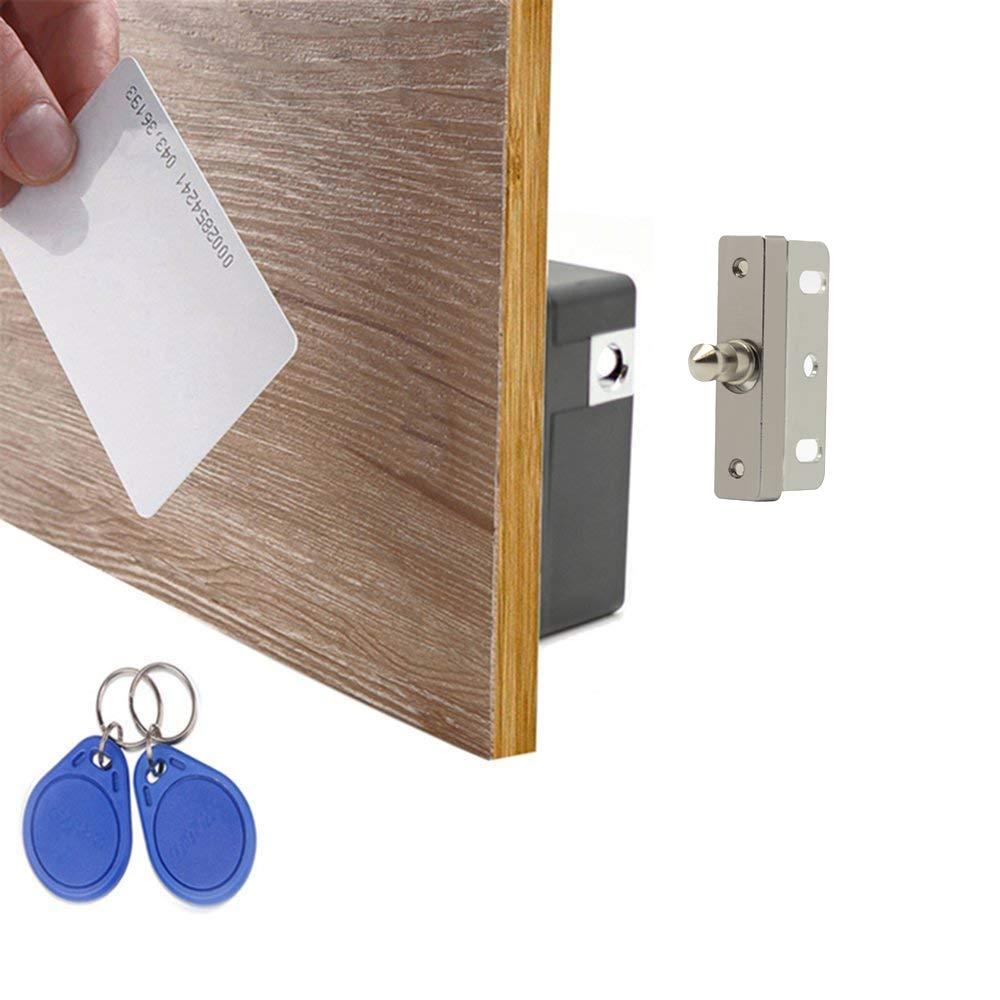 WOOCH Electronic Cabinet Lock Kit Set, Hidden DIY Lock for Cabinet Drawer Locker, RFID Card/Tag/Wristband Entry