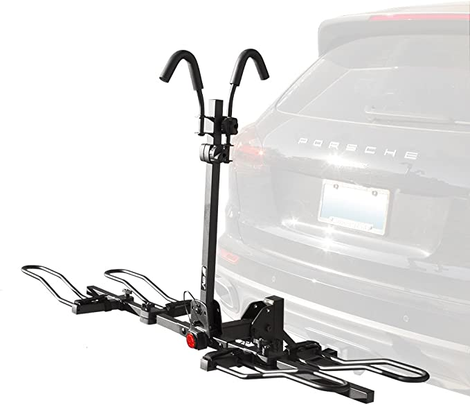 Amazon.com : BV 2-Bike Bicycle Hitch Mount Rack Carrier for Car Truck SUV - Tray Style Smart Tilting Design (2-Bike Carrier) : Sports & Outdoors