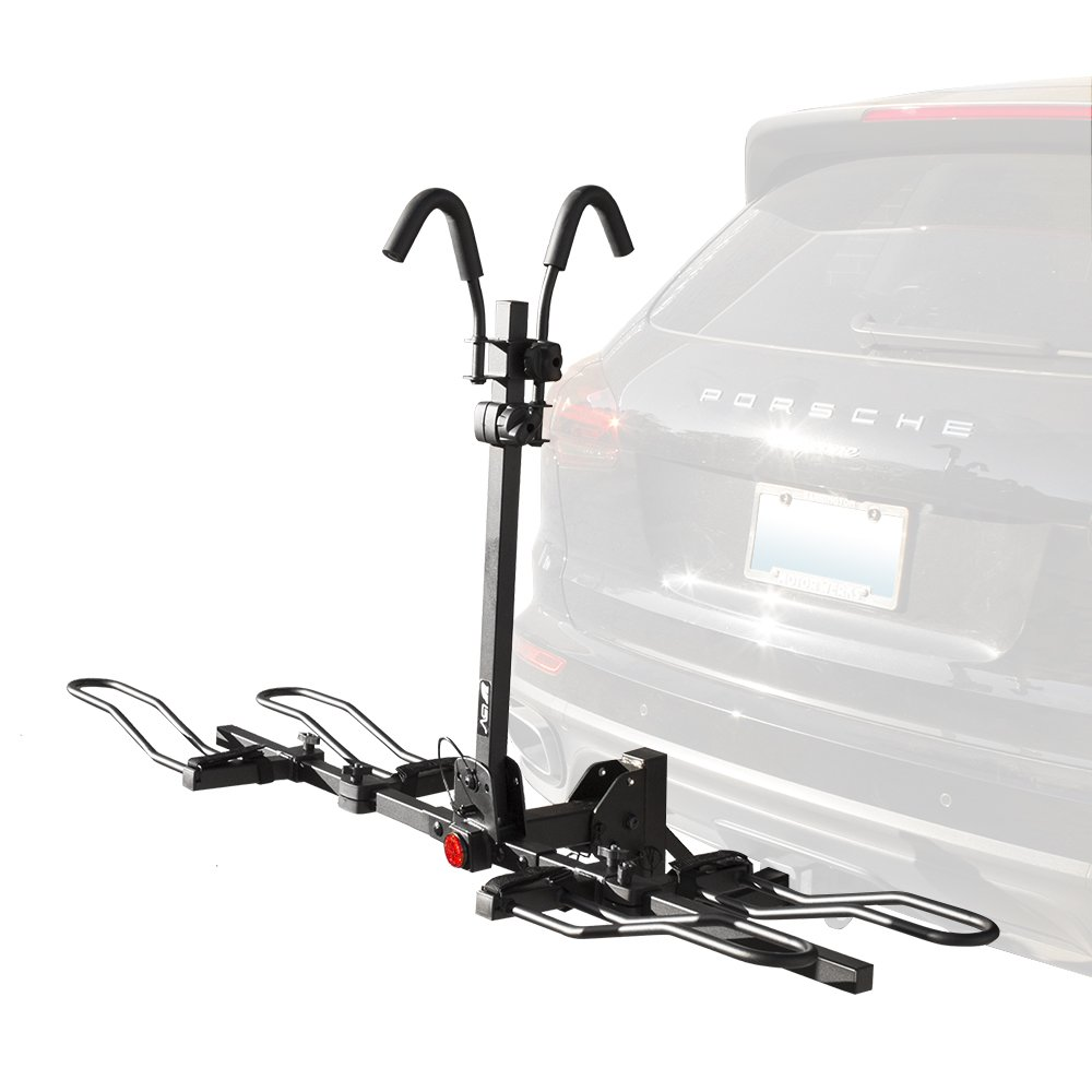 BV 2-Bike Bicycle Hitch Mount Rack Carrier for Car Truck SUV - Tray Style Smart Tilting Design (2-Bike Carrier)