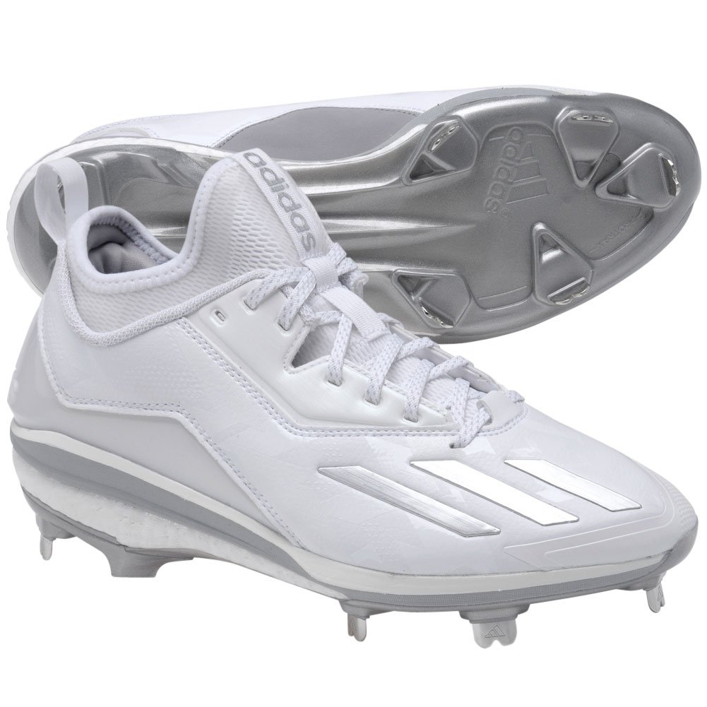 AdidasメンズEnergy Boost Icon 2。0 Low Metal Baseball Cleats B01FVOTA0K 8 D(M) US|White-silver Met White-silver Met 8 D(M) US