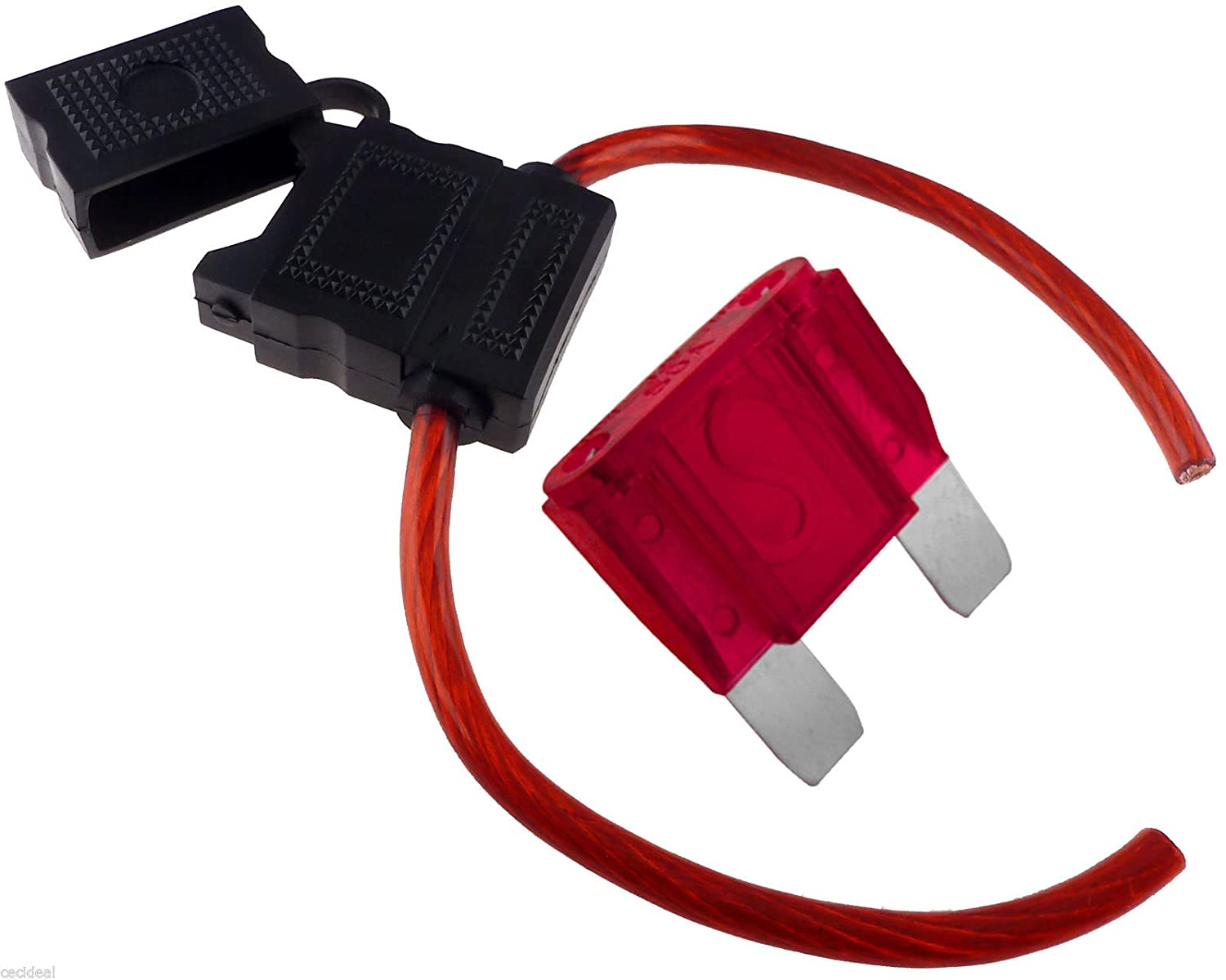 8 GAUGE INLINE MAXI FUSE HOLDER WITH 50 AMP FUSE WITH COVER NEW - -  Amazon.com