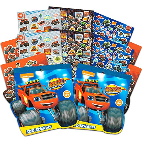 Blaze and the Monster Machines Party Supplies Stickers Pack ~ 600 Assorted Blaze Stickers (16 Party Favors Sheets)