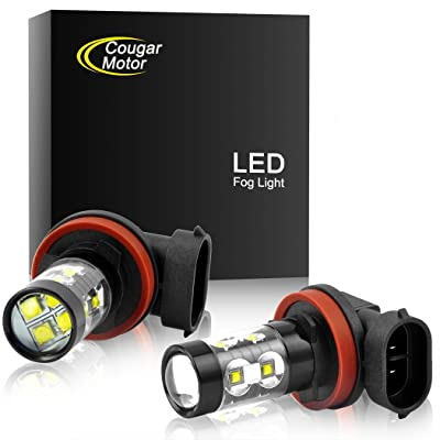 Cougar Motor H11 H8 CREE LED Fog Light/DRL Bulbs - 30W 5000K Bright White (Pack of two bulbs): Automotive