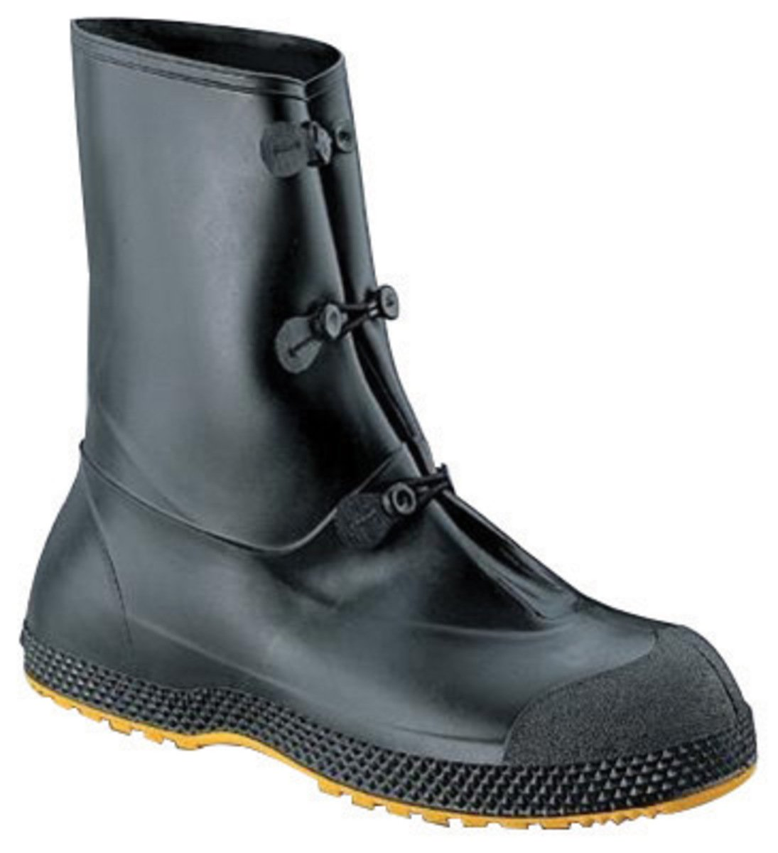 Servus By Honeywell Medium SF SuperFit Black 12'' PVC Premium Overboots With Dual Compound Outsole
