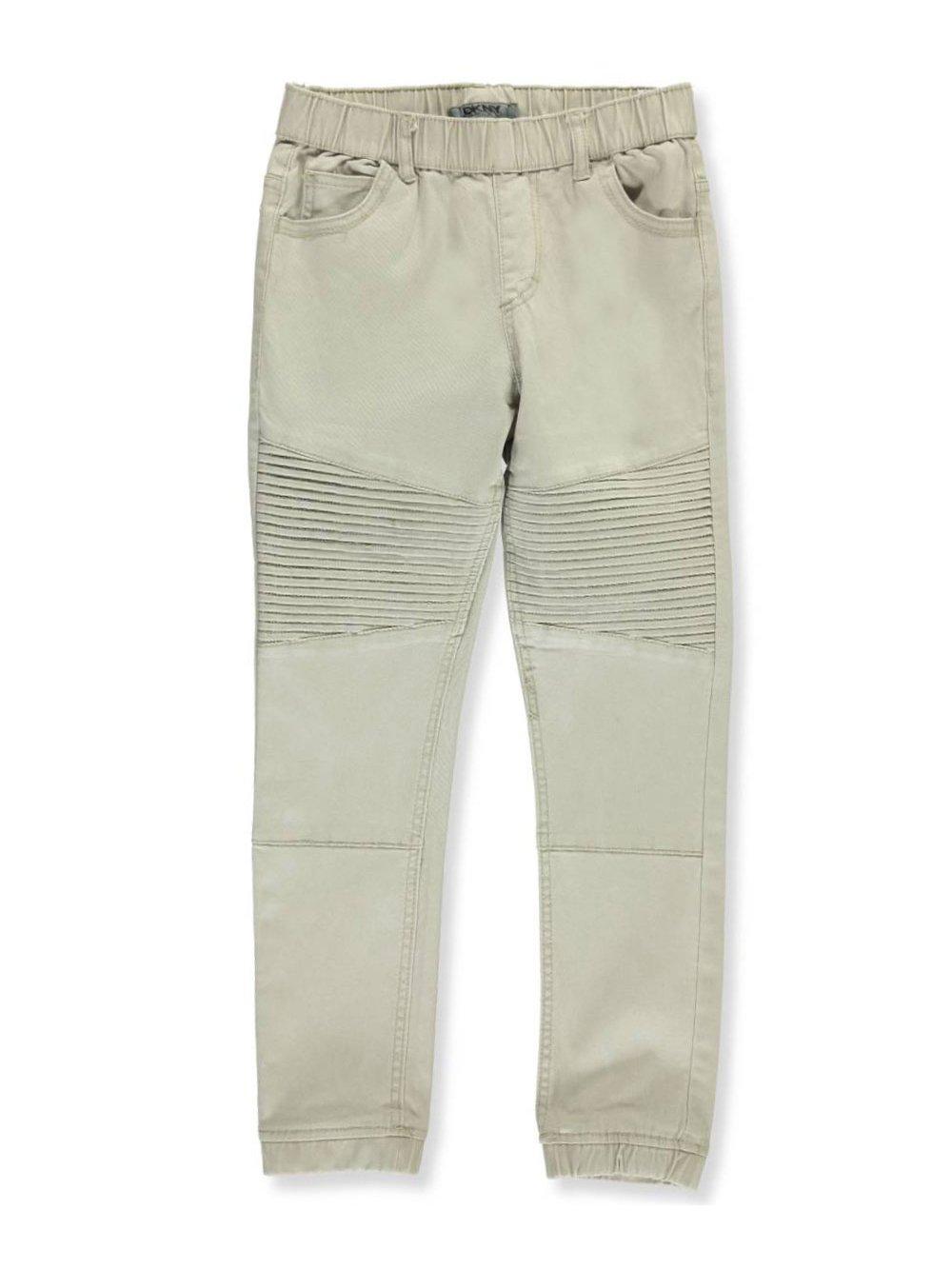 DKNY Big Boys' Twill Pant (More Styles Available), Aluminum, 10/12