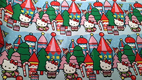 [Christmas Wrapping Hello Kitty Holiday Paper Gift Greetings 1 Roll Design Festive Wrap Kitty] (Peppermint Costumes)