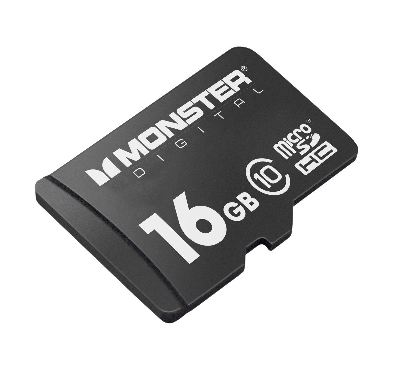 Monster Digital Bunker Series 16 GB microSDHC Class 10 Flash Memory Card USD-0016-101