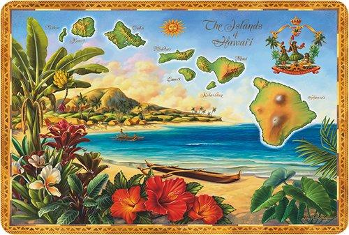 Hawaii Scrapbook Die Cut (Hawaiian Vintage Postcards Pack of 30 - The Islands of Hawaii by Anne Wertheim)