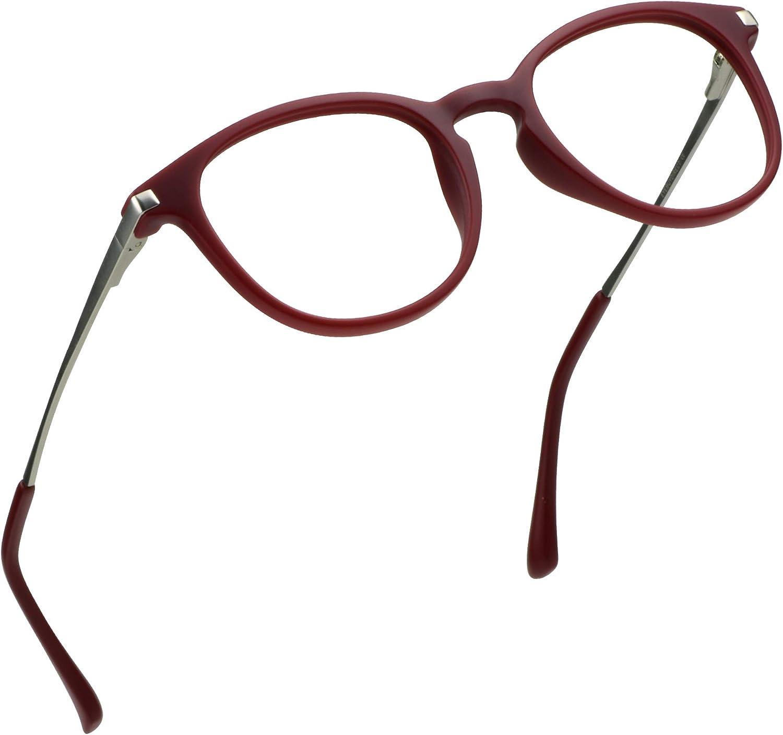 LifeArt Blue Light Blocking Glasses, Anti Eyestrain, Computer Reading Glasses, Gaming Glasses, TV Glasses for Women, Anti UV, Anti Glare (+0.25 Magnification, La_mirando_red)