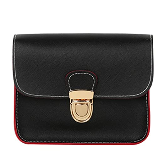 8c25b5ce70d6 New Casual Small Leather Flap Handbags Ladies Party Purse Clutches Women  Crossbody Shoulder Evening Bags Black