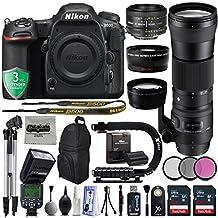 Nikon D500 2160P 4K DSLR Camera w/ 4 Lens - 21 to 600mm - 128GB - 30PC Kit - Nikon 50mm f/1.8D - Sigma 150-600mm F5-6.3 DG OS HSM + Opteka 0.43x + Opteka 2.2x + 3YR Warranty