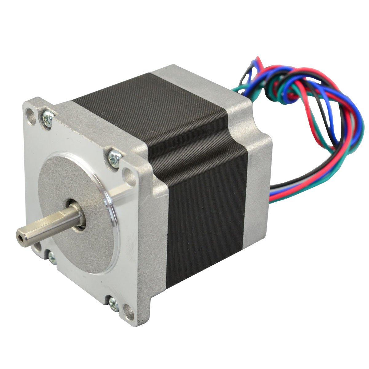Nema 23 Stepper Motor 126nm 28a 4 Wires 635mm Shaft Diy Cnc Robot Wire Diagram 3d Printer
