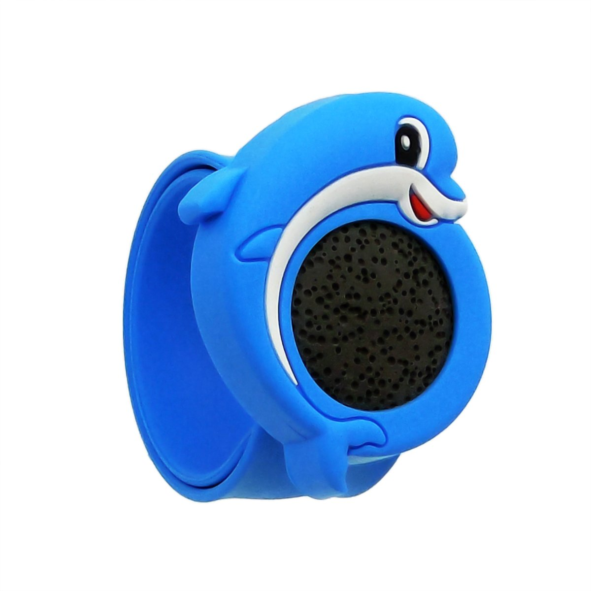 NewStar Kid Essential Oil Bracelets Lava Stone Diffuser Slap Bracelet Children Blue Cartoon Dolphin Wristband by NewStar