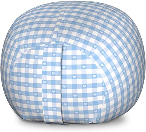 Ambesonne Checkered Storage Toy Bag Chair
