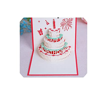 Amazon 3D Pop Up Cards Valentine Lover Happy Birthday Xmas Anniversary Greeting H Office Products